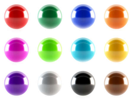 Colorful glossy buttons Stock Photo - 13431985