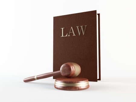 arbitrator: Legge libro e martelletto Archivio Fotografico