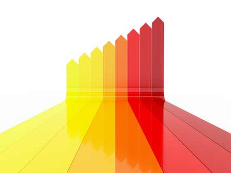 Colorful gradient arrows Stock Photo - 13432071