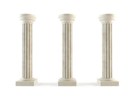 3d temple: Classic columns Stock Photo