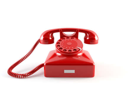 hotline: Oude telefoon Stockfoto