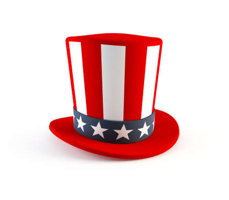 uncle sam hat: 4th of July hat Stock Photo