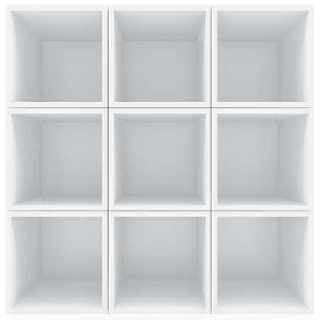 白い棚します。 写真素材 - 13496596
