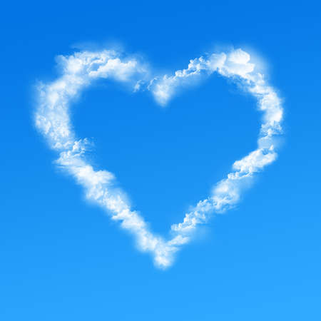 Heart clouds photo
