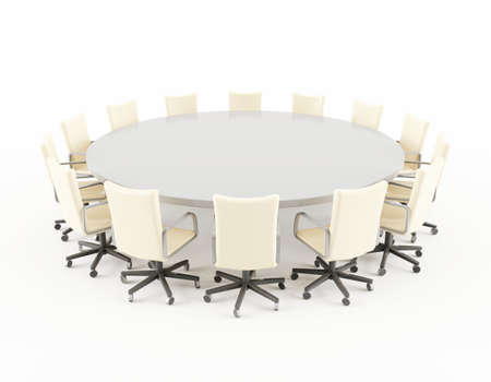 round chairs: Boardroom table