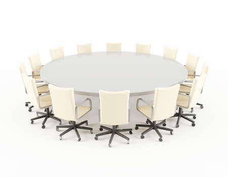 Table de réunion Banque d'images - 13496590
