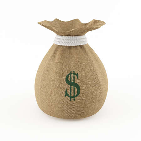Money bag Standard-Bild - 13496626