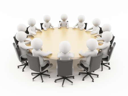 3 人のビジネスの会議に座って