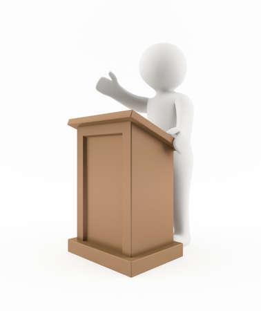 3D man giving a speech