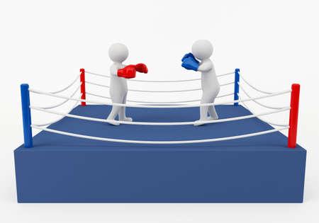 3D boxing match photo