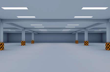empty warehouse: parking garage