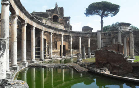 ruins is ancient: Ancient Roman Baths Ruins