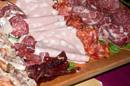 plate of cold cuts for a starter to Italian photo