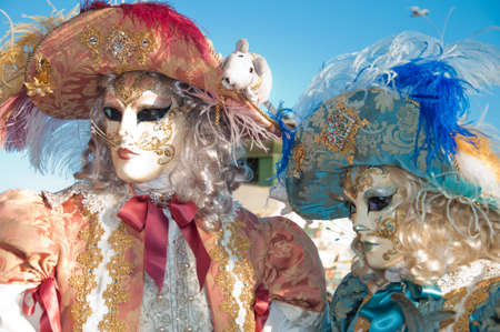 dogma: Venice Carnival - mask in dogma and man-blue and orange