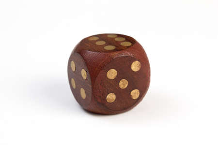 Wooden dice 版權商用圖片 - 27562130