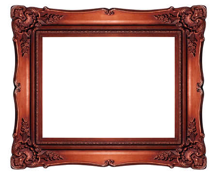 Antique frame isolated on white background, Clipping path included (outside and inside)
