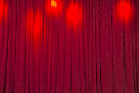 red curtains: cinema theater red curtains Stock Photo