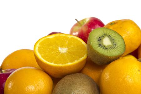 fruit mix: fruit mix isolated on white background Stock Photo