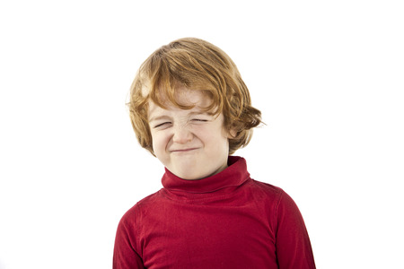 tantrum: toddler tantrum isolated on white background Stock Photo