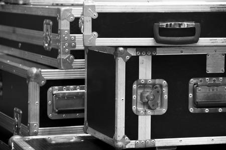 équipement: aluminium cas de vol de bois pour les DJ outils de l'instrument de la boîte