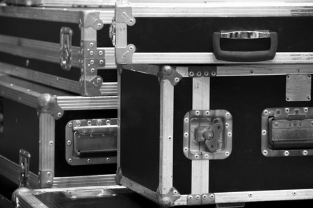 equipment: aluminium wooden flight case for DJ box instrument tools