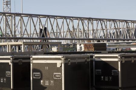 prepare festival event truss construction