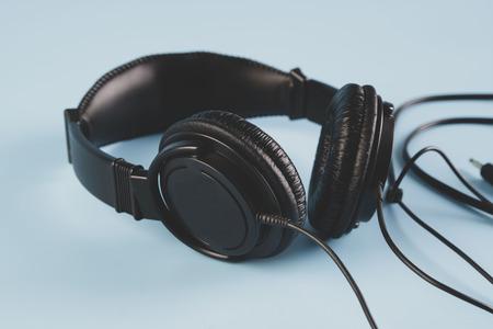 black headphones Stock Photo