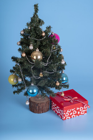 christmast tree and present Stock Photo