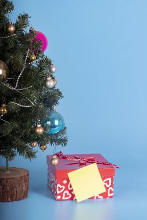 christmas gift and tree