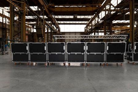 Music, concert, event equipment cases for transport