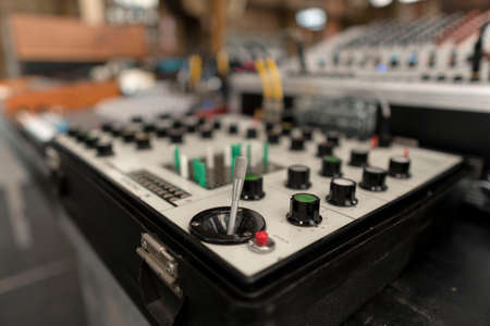 Vintage dj equipment for concert, party and event