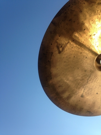 cymbal: Cymbal in the cloudless sky Stock Photo