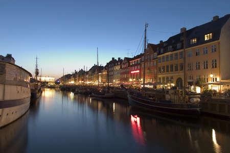 Nightshot at Nyhavn harbor, Copenhagen Stock Photo - 459731