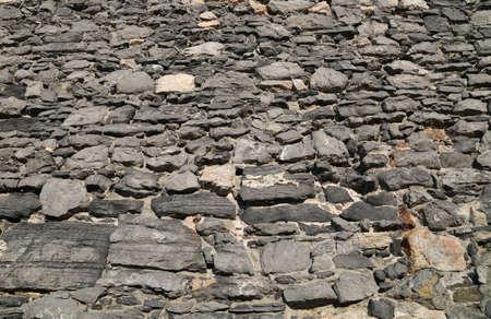 spezia: Stone wall Stock Photo