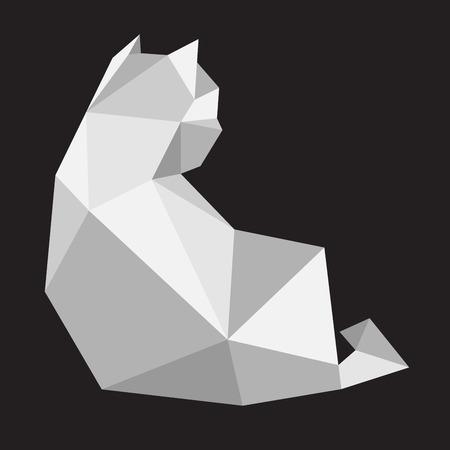 Cat kitten Vector icon illustration geometric Polygonal Art cartoon