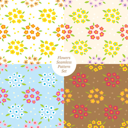 Flowers nature Seamless Pattern vector