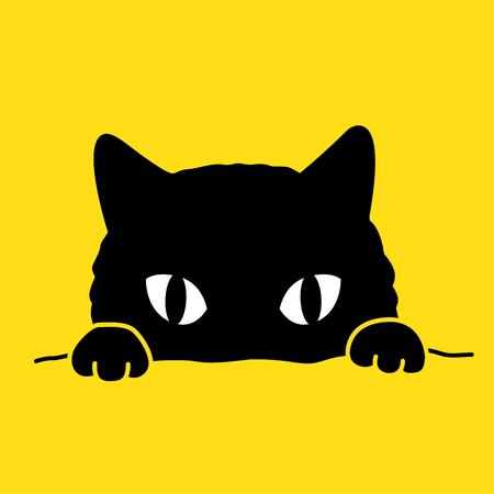 Scarabocchio del fumetto dell'illustrazione dell'icona di vettore del gattino