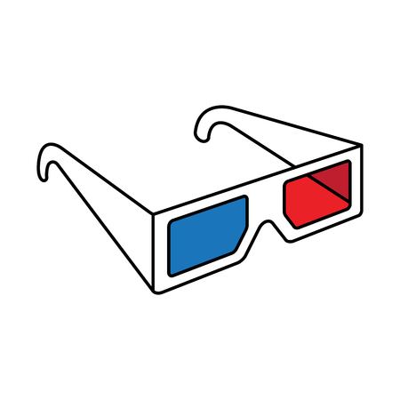 3d glasses logo icon Vector illustration Illusztráció