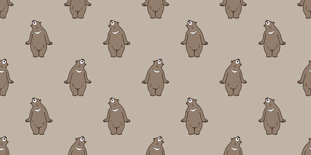 seamless pattern bear polar bear vector icon isolated wallpaper background brown