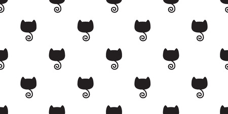 cat seamless pattern kitten tail vector isolated wallpaper background