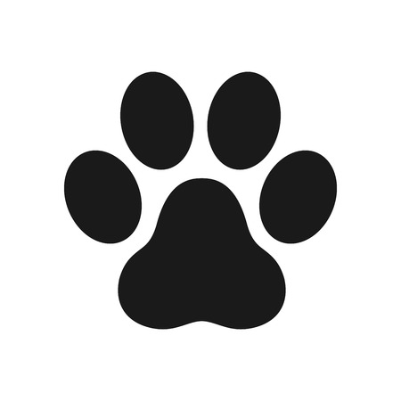 paw icon dog paw cat paw logo footprint vector illustration