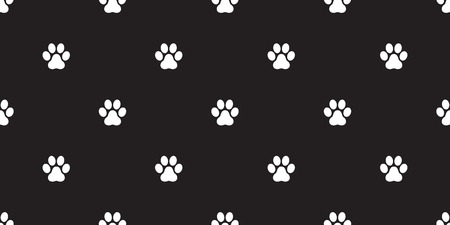 paw seamless pattern dog paw cat paw vector isolated wallpaper background