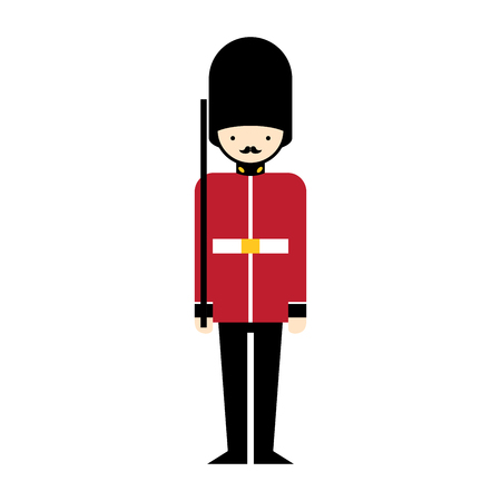 Queen Guard cartoon icon Vector illustration character