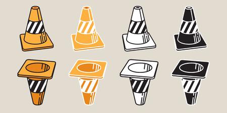 Traffic Cones icon Vector logo illustration