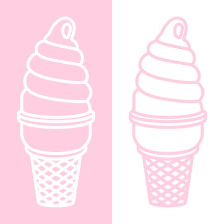 ice cream vector icon Twisted logo illustration cartoon