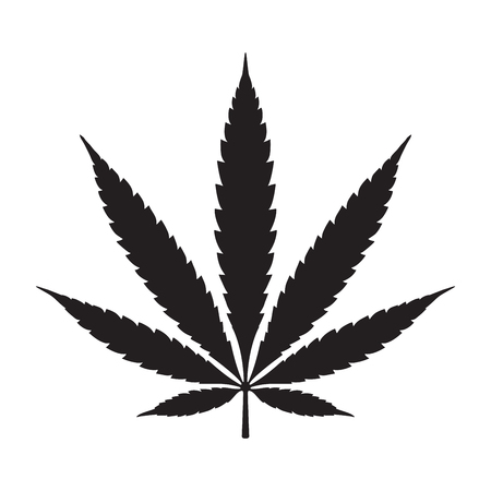 Weed Marijuana cannabis leaf vector illustration icon