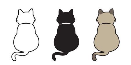 Cat Vector kitten neko doodle icon illustration cartoon character