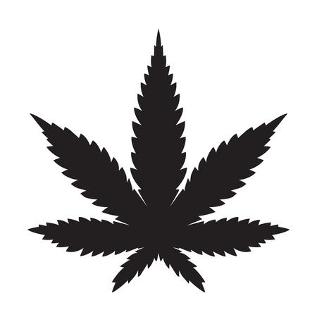 weed marijuana cannabis leaf vector icon logo illustration royalty rh 123rf com marijuana leaf vector free marijuana leaf silhouette vector