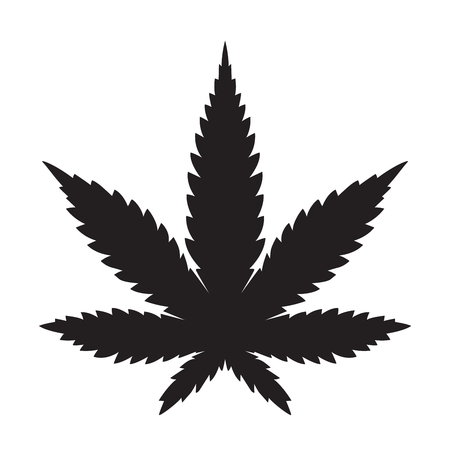 Weed Marijuana cannabis leaf vector icon logo illustration 矢量图像