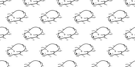 Bear Seamless Pattern Polar Bear Vector Sleepy Isolated Wallpaper